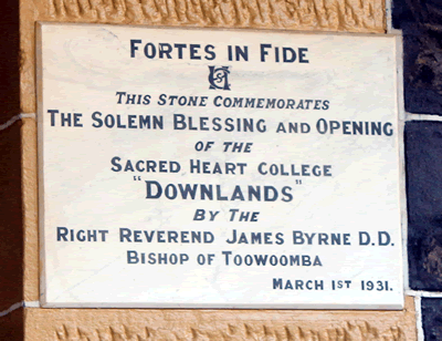 Downlands College Foundation Stone 1931